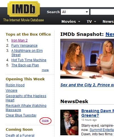 5 Top Tips for Using IMDb To Feed Your Movie Obsession « The Movie